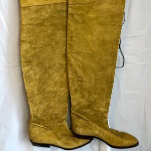 Arnold Churgin suede thigh high boots.